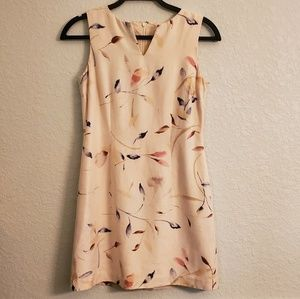 ANN TAYLOR PETITES Silk Sleeveless Floral Dress